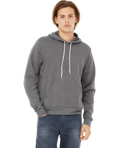 Unisex Poly-Cotton Fleece Pullover Hoodie heather XXL