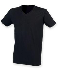 Mens Stretch Feel Good V-neck T-shirt
